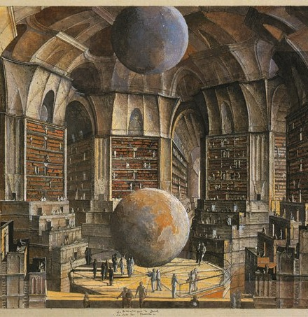 The Library of Babel Illustration by Erik Desmazieres